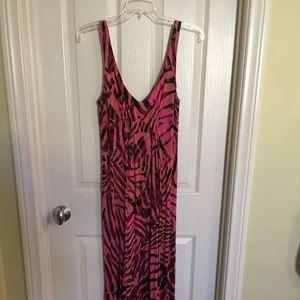 CAbi Pink Tank Maxi Dress Size Medium